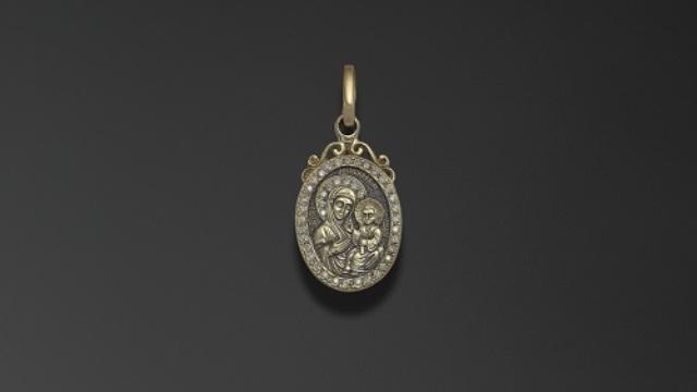 Иверская икона в ювелирных произведениях